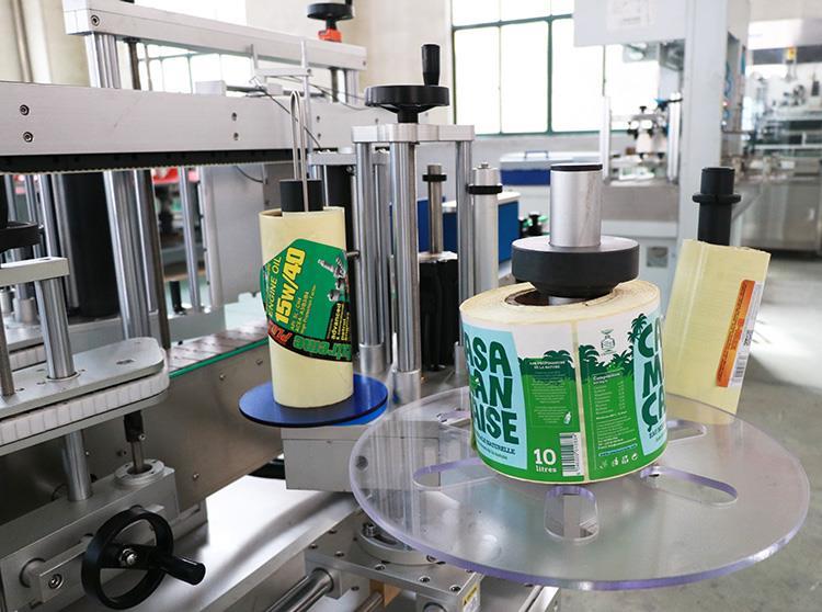 Automaitc Adhesive Two Sticker Flat Round Bottle Labeling Machine