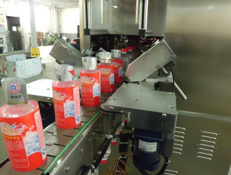 Automatic Double Head Heat PVC Label Shrink Sleeve Labeling Machine
