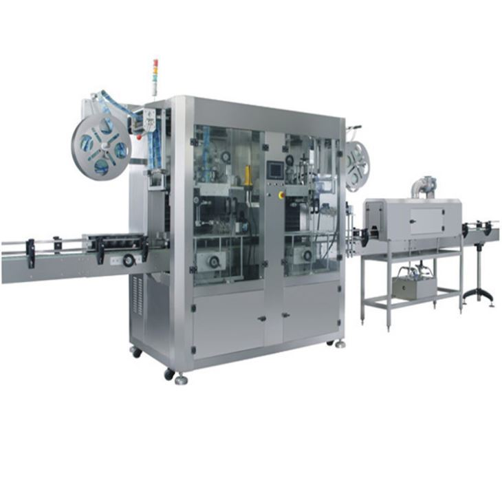 Automatic Double Head Heat PVC Label Shrink Sleeve Labeling Machine
