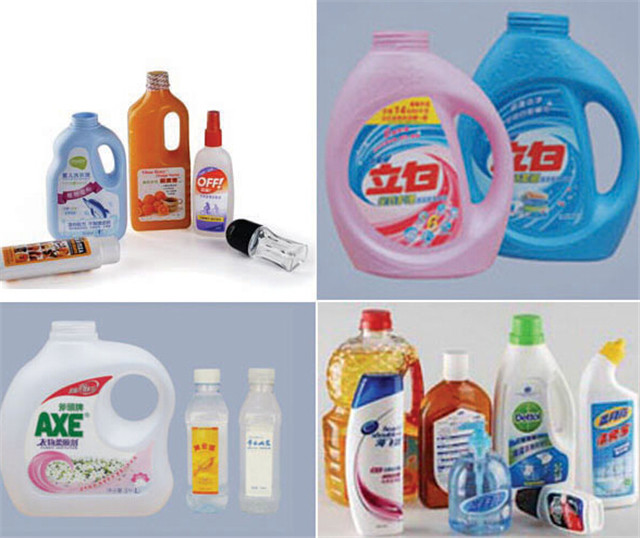 Automatic Double Sided Labelling Machine For Shampoo Lotion Bottles Application