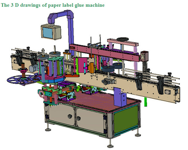 Automatic Double Sided Labelling Machine For Shampoo Lotion Bottles Details