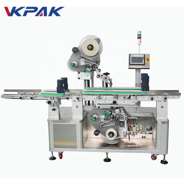 Automatic Double Sides Top and Bottom Sticker Labeling Machine