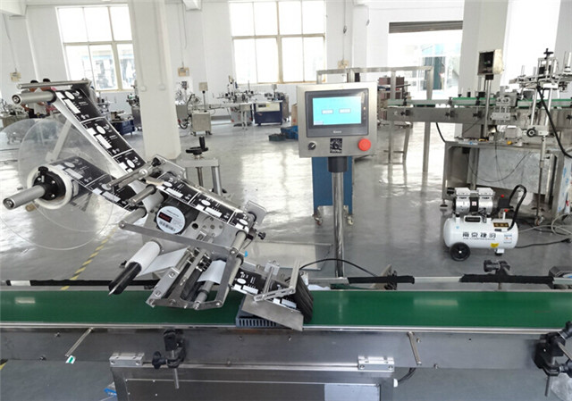 Automatic Flat Surface Top Labelling Machines For Cartons Boxes Details
