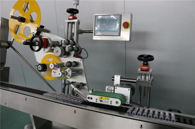 Automatic Horizontal Wrap Around Syringe Adhesive Sticker Labeling Machine