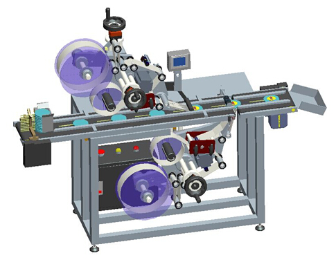 Automatic Upper And Down Adhesive Labeling Sticking Machine