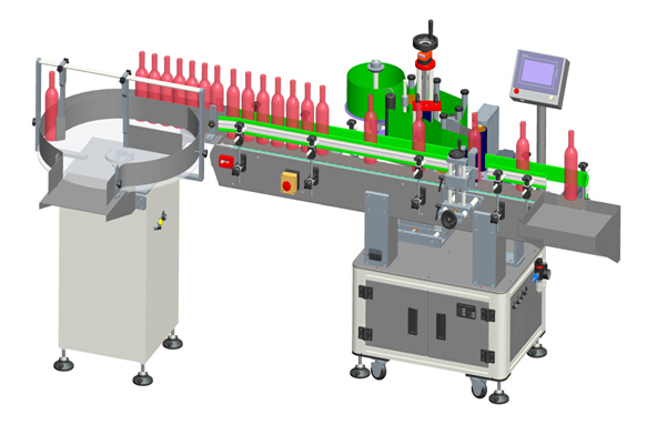 Automatic Vertical Red Wine Transparent Labels Labelling Machine Details