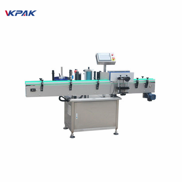 Automatic Vertical Round Metal Cans Labeller Equipment Machinery