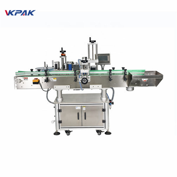 Automatic Vertical Square Bottles Four Sides Labeling Machine