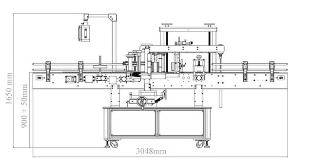 Chart of Double-head automatic Sides plus round bottle labeling machine