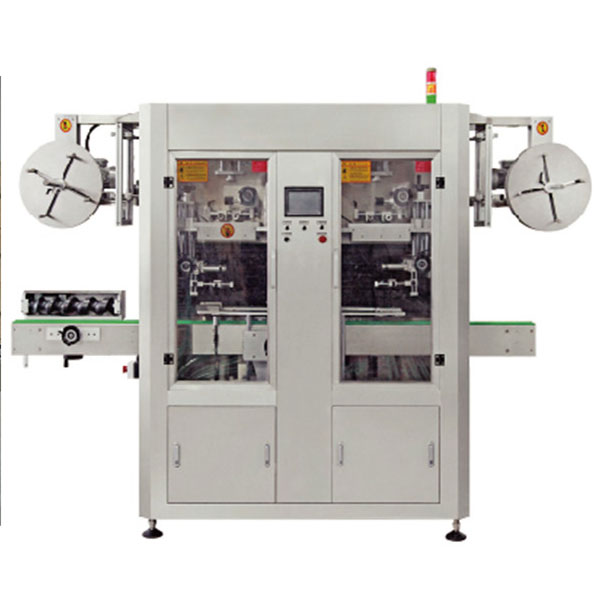 Dual Lane Automatic PVC Shrink Sleeve Label Applicator Machine
