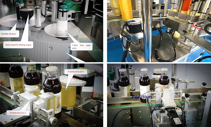 Factory Price Round Bottle Automatic Fixed Position Labeling Machine for Sale