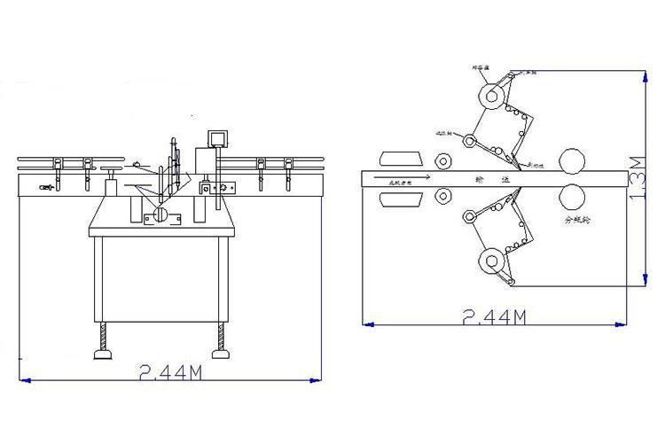 Flat Bottle Double Sides Labeling Machine for Various Flat Square Bottle Jar