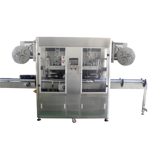 Full Automatic Bottle Neck and Body Double Heads Sleeve Shrink Labeling Machine