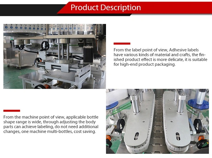 Fully Automatic Sticker Labeling Machine for Self Adhesive Glass Bottle