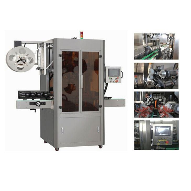High Speed Full Automatic PVC Sleeve Shrink Applicator Labeling Machine