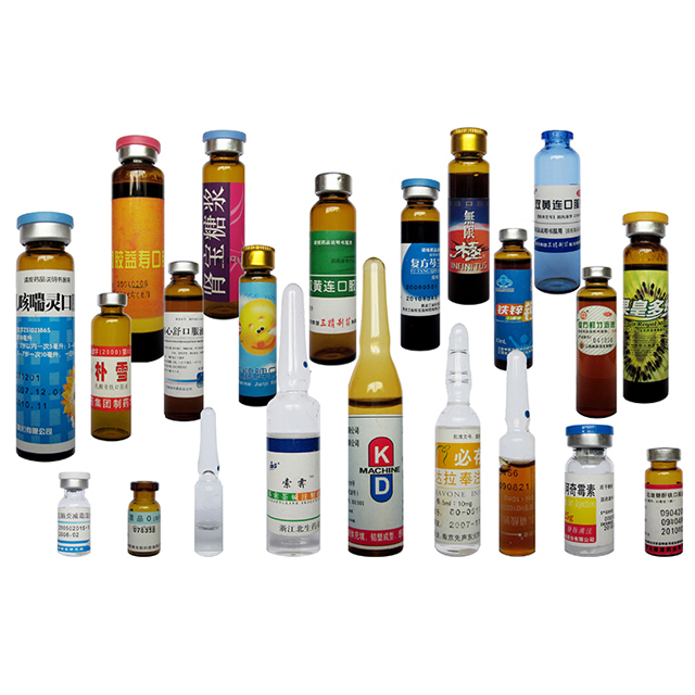 Linear Horizontal Servo Motor Ampoule Bottles Vials Labeling Machine