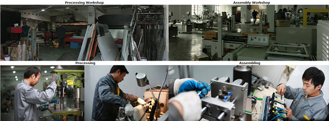 Machines labeling manufacturing plant