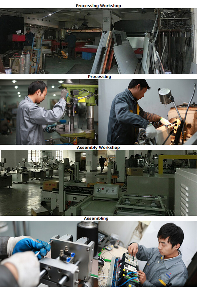 Processing for manufacturing the flat surface bottles cartons booklets labeling machine