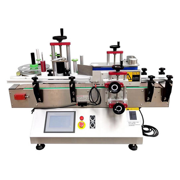 Tabletop Paint Can Wrap Around Bottle Labeling Machine