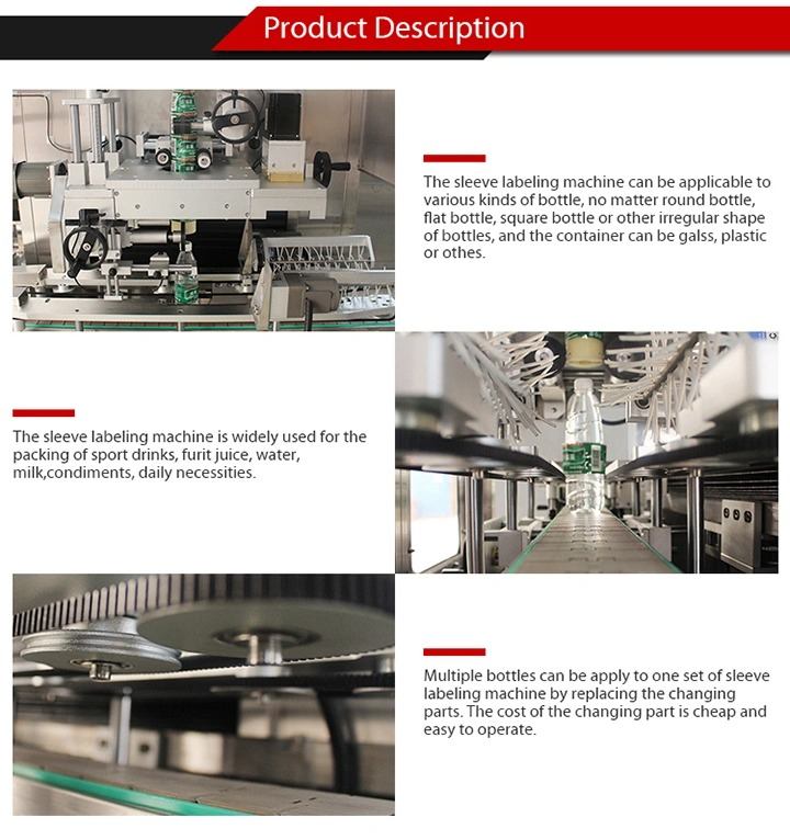 Two-Head Automatic Plastic Glass Bottle Shrink Labeling Machine