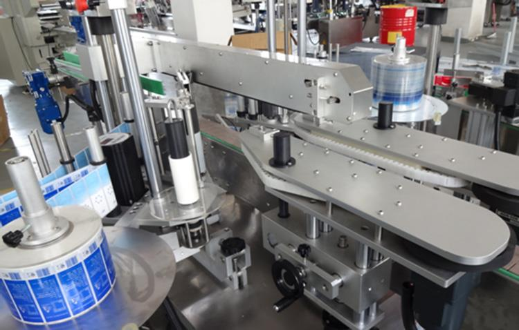Vertical Plastic Bottle Front and Back Side Double Side Labeling Machine